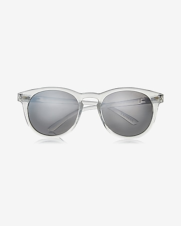 express view clear round sunglasses