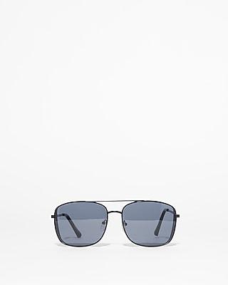 Express Mens Square Aviator Sunglasses Black Men's  Black