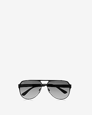 Express Mens Black Aviator Sunglasses