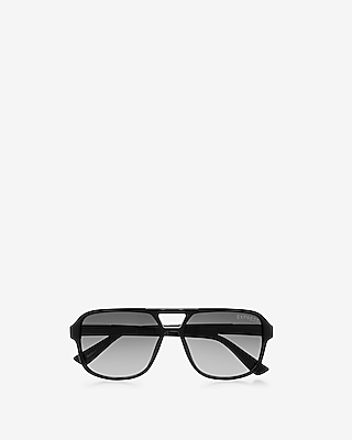 Express Mens Matte Thick Frame Sunglasses