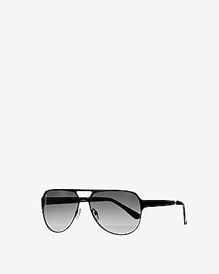 Express Mens Matte Thick Frame Sunglasses Gold Men's  Gold