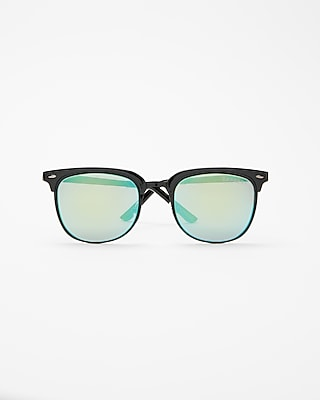 Express Mens Blue Browline Sunglasses