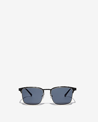 Express Mens Gold Rimmed Black Sunglasses