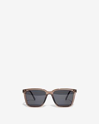 Express Mens Bold Color Frame Sunglasses
