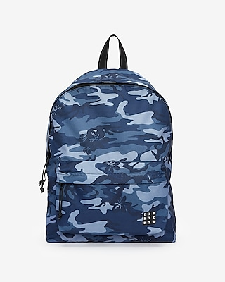 Express Mens Camo Floral Backpack Blue Men's  Blue