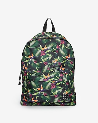 Express Mens Multicolor Floral Backpack Green Men's  Green
