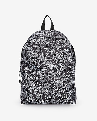 Express Mens Black Floral Backpack