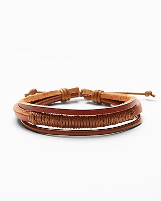 Express Mens Multi-Strand Wrap Bracelet