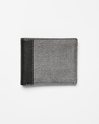 Express Mens Heathered Woven Bifold Wallet