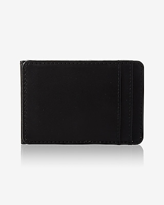 Express Mens Slim Magnetic Leather Wallet