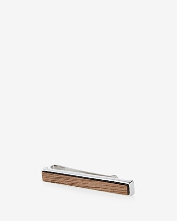 wooden inlay tie clip