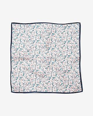 Express Mens Bold Border Floral Print Silk Pocket Square