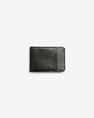 Express Mens Slim Pebbled Bifold Wallet