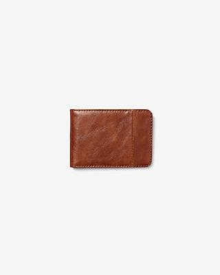 Express Mens Slim Pebbled Bifold Wallet Brown Men's  Brown