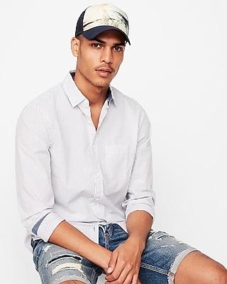 Express Mens Palm Tree Trucker Hat