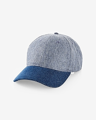 Color Blocked Denim Baseball Hat