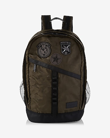 camo patch embellished backpack