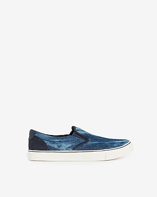 Express Mens Tie Dye Slip-On Sneakers