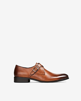 Express Mens Brown Leather Dress Shoe