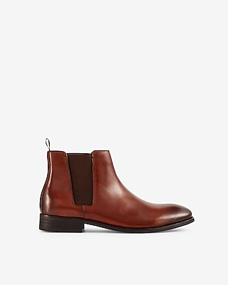 Express Mens Leather Chelsea Boots