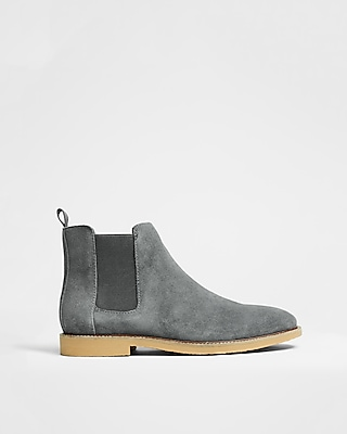 Express Mens Genuine Suede Chelsea Boot