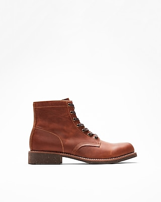 Express Mens Genuine Leather Lace-Up Boots