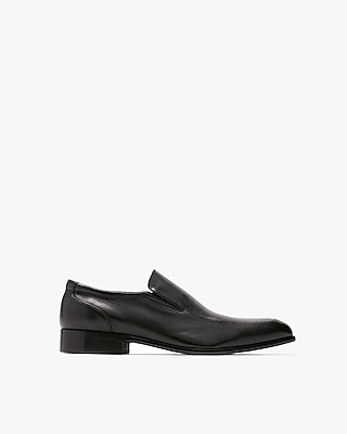 Express Mens Leather Slip-On Dress Shoes Black Men's 9 Black 9