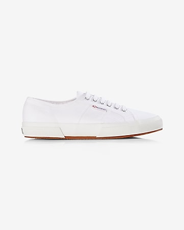 white superga canvas low top sneaker