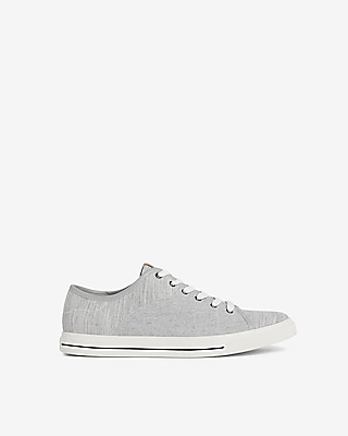 Express Mens Low Top Lace-Up Sneakers With Leather Tab