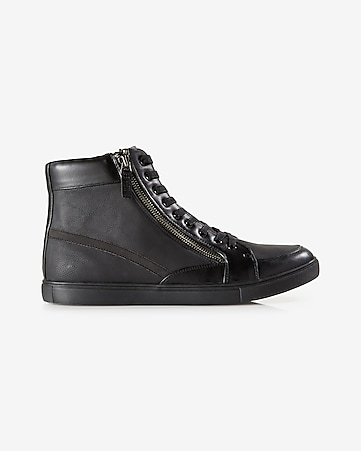 double zip high top sneaker