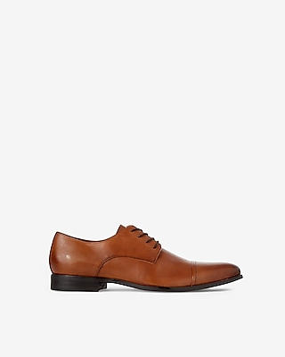 Express Mens Leather Cap Toe Oxford Dress Shoe