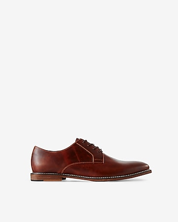 leather casual oxford