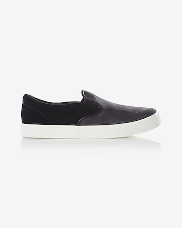 smooth leather slip-on sneaker
