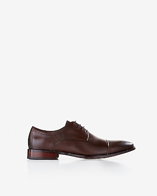 Express Mens Cap Toe Leather Dress Shoe