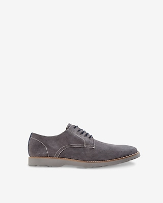 Express Mens Suede Oxford Dress Shoes