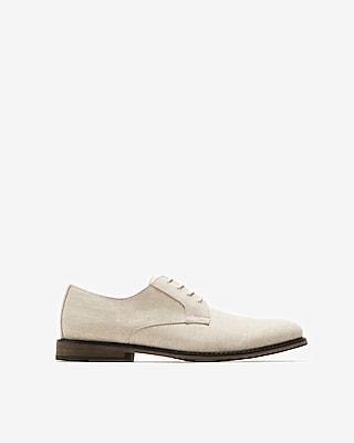 Express Mens Casual Linen Oxford Dress Shoes Neutral Men's 7 Neutral 7