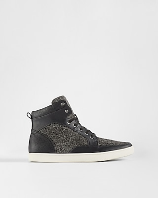 Express Mens Textured High Top Sneakers