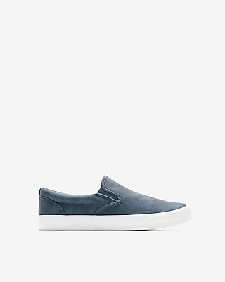 Express Mens Textured Slip-On Sneakers
