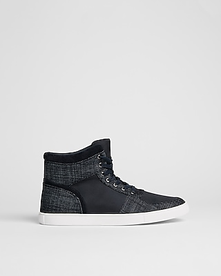 Express Mens Denim High Top Sneaker