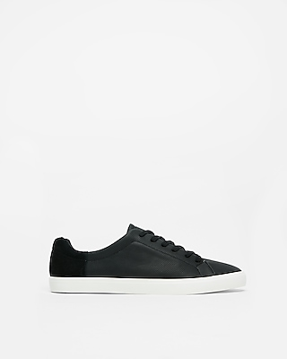 Express Mens Color Block Perforated Suede Sneakers