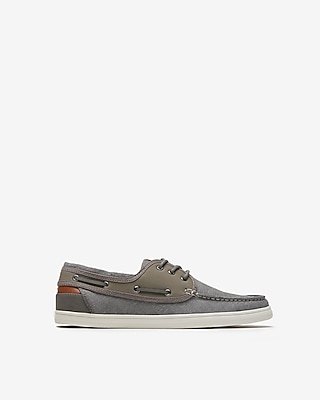 Express Mens Canvas Boat Shoes