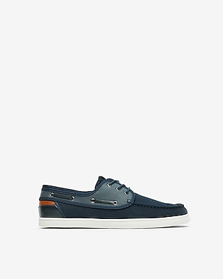 Express Mens Canvas Boat Shoes Blue Men's 8 Blue 8