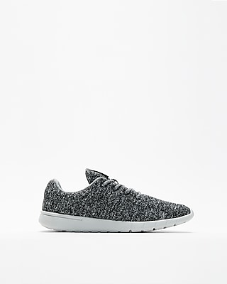 Express Mens Textured Knit Sneakers