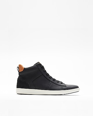 Express Mens Perforated High Top Sneakers