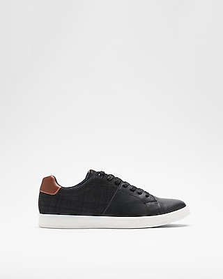Express Mens Black Lace-Up Sneakers