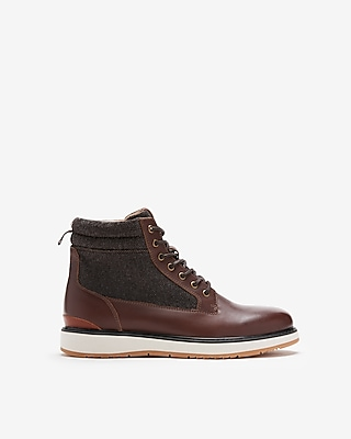 Express Mens Leather Lace-Up Boots Brown Men's 9.5 Brown 9.5