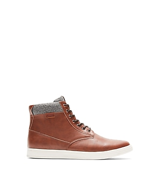 Express Mens Soft Cuff Lace-Up Boots