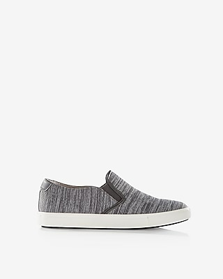 Express Mens Knit Slip-On Sneakers