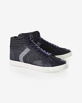 Denim High Top Sneaker