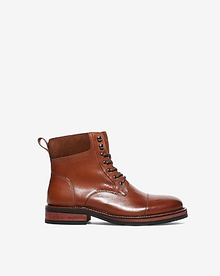 Express Mens Suede Cuff Lace-Up Boots